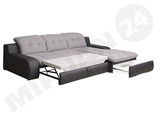 outlet ecksofa bravero eckcouch mit bettkasten und schlaffunktion moderne schlafsofa. Black Bedroom Furniture Sets. Home Design Ideas