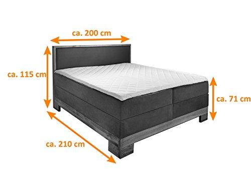 sam design boxspringbett sirin box mit holzrahmen und bonellfederkern 2 x 100 cm. Black Bedroom Furniture Sets. Home Design Ideas