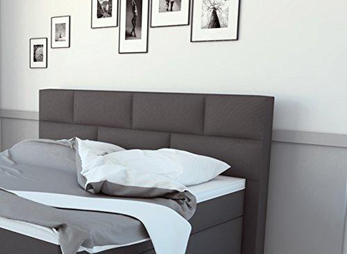 sam design boxspringbett bob in grau stoffbezug box mit holzrahmen und bonellfederkern 7. Black Bedroom Furniture Sets. Home Design Ideas
