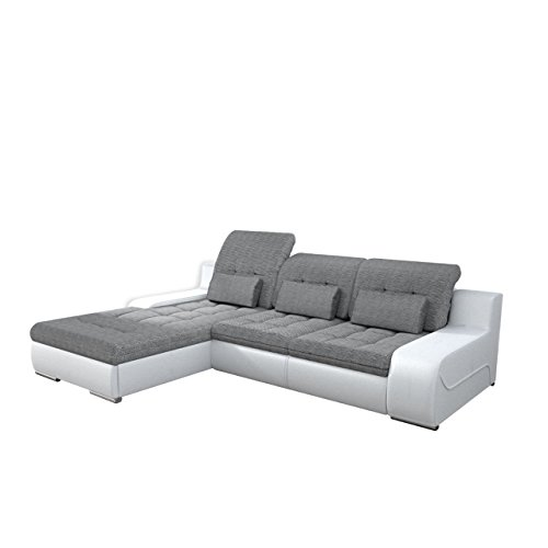 Outlet ecksofa bravero eckcouch mit bettkasten und for Ledersofas outlet