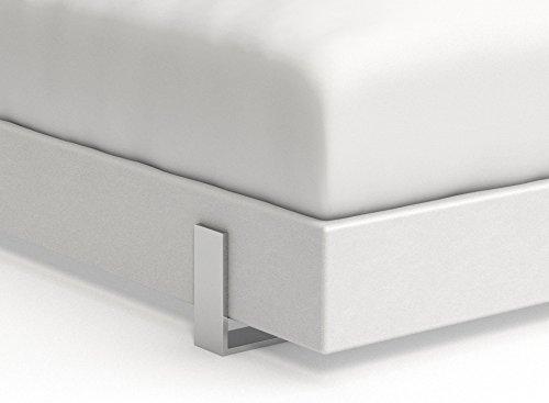 SAM® Design Boxspringbett Zadar Sole weiß mit 7-Zonen H2 Taschenfederkern-Matratze und Chrom-Füßen, 180 x 200 cm 2