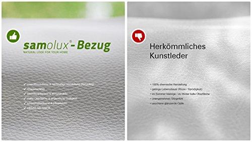 SAM® Design Boxspringbett Almeria Grenada weiß mit 7-Zonen H2 Taschenfederkern-Matratze, Chrom-Füßen und LED-Beleuchtung 180 x 200 cm 6
