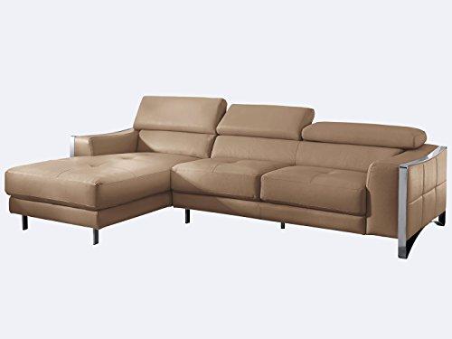 ecksofa cognac leder elsa wohnlandschaft couch chrom. Black Bedroom Furniture Sets. Home Design Ideas