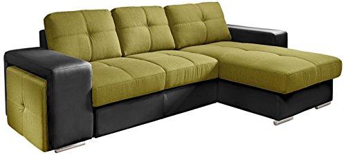 cotta c209660 c308 h360 polsterecke mit schlaffunktion und bettkasten 278 x 157 cm kunstleder. Black Bedroom Furniture Sets. Home Design Ideas