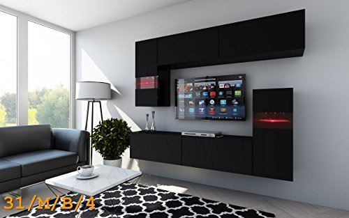 future 31 wohnwand anbauwand wohnzimmer tv schrank m bel wohnzimmerschrank led rgb beleuchtung. Black Bedroom Furniture Sets. Home Design Ideas