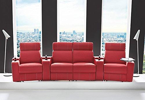 kinosessel kinosofa mit 4 pl tzen cinema heimkino sessel hollywood mit relaxfunktion stauf chern. Black Bedroom Furniture Sets. Home Design Ideas