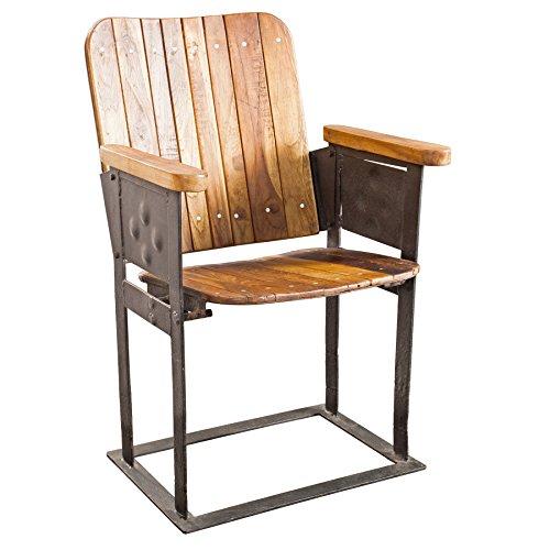 original alter kinositz cinema einsitzer retro holz und eisen stuhl wohnzimmer heimkino. Black Bedroom Furniture Sets. Home Design Ideas