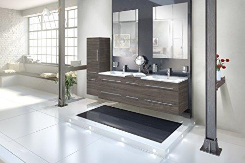 sam badmbel set 4 tlg barcelona trffeleiche softclose badezimmermbel doppelwaschplatz 150 cm. Black Bedroom Furniture Sets. Home Design Ideas