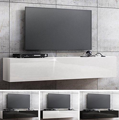tv lowboard hngeboard hochglanz board schrank tisch 160cm 0 m bel24. Black Bedroom Furniture Sets. Home Design Ideas