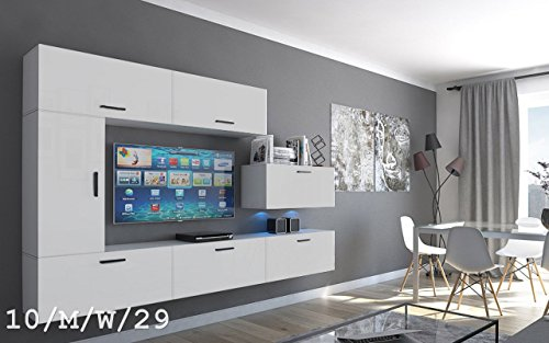 wohnwand future 10 moderne wohnwand exklusive mediam bel tv schrank neue garnitur gro e. Black Bedroom Furniture Sets. Home Design Ideas
