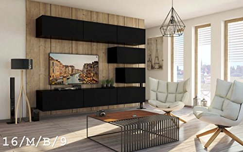 wohnwand future 16 anbauwand schrankwand moderne wohnwand exklusive mediam bel m belset. Black Bedroom Furniture Sets. Home Design Ideas