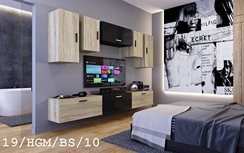 wohnwand future 19 moderne wohnwand exklusive mediam bel tv schrank neue garnitur gro e. Black Bedroom Furniture Sets. Home Design Ideas