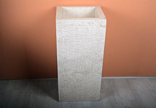 Waschtisch Waschtischsäule Waschbecken Calaggio Naturstein Marmor creme DIVERO