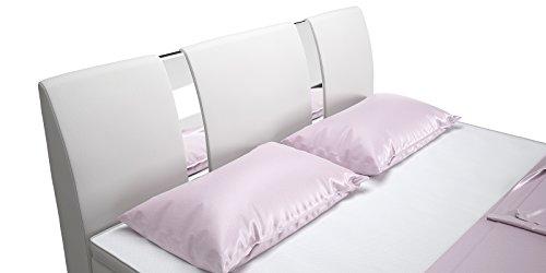 Boxspringbett mit Bettkasten Schubkasten 160x200 weiß Arizona Doppelbett Hotelbett Bonellfederkern Topper (160x200cm, Weiß)