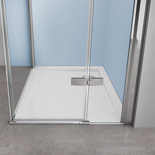 TBH: 90x140x195cm Duschabtrennung Duschkabine Manhattan05k, 8mm ESG-Sicherheitsglas klarglas,inkl. beidseitiger NANO-Beschichtung