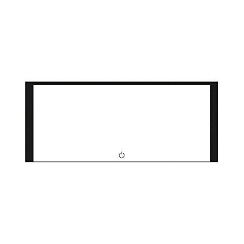 KROLLMANN Breitflächiger Badspiegel mit LED Beleuchtung / Touch Sensor, Satinierte Lichtflächen, 120 x 50 cm [Energieklasse A+]