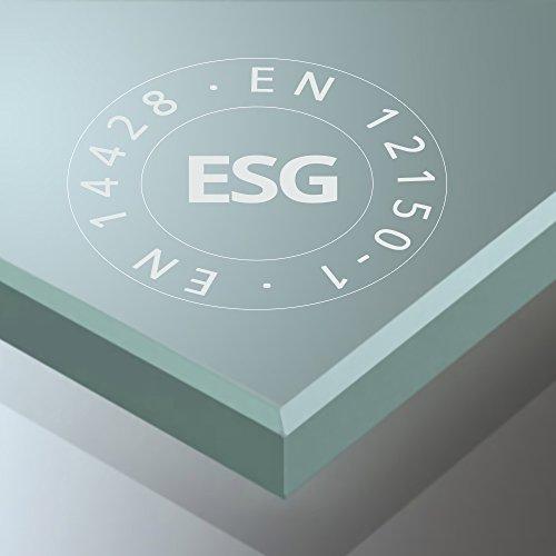 BTH: 80x100x190cm Design Duschabtrennung Ravenna26, ESG-Sicherheitsglas Klarglas, inkl. beidseitiger Nano-Beschichtung, Duschkabine, Duschwand, Glasdusche, Eckdusche