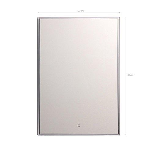 LED Badezimmerspiegel mit Touch Sensor 60 x 80 cm 1594nt