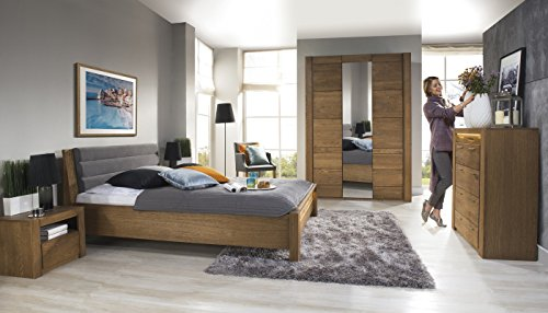 Kleiderschrank Schlafzimmerschrank VELVET Eiche massiv, Natur furnier