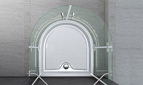 100x100x190 cm Design Duschkabine Duschabtrennung Ravenna03K, 8mm ESG-Sicherheitsglas, inkl. Nanobeschichtung, Halbkreisdusche