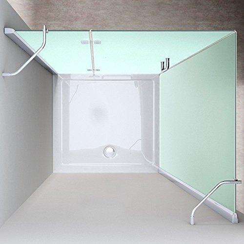 TBH: 90x120x190cm Design Duschkabine Duschabtrennung Ravenna4, ESG-Sicherheitsglas Satiniert, Eckdusche, inkl. Nanobeschichtung, robust und langlebig