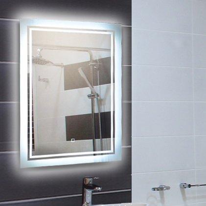 LED-Spiegel, Beleuchteter Badspiegel in verschiedenen Ausführungen 80x60 cm bis 120x70 cm (108598)