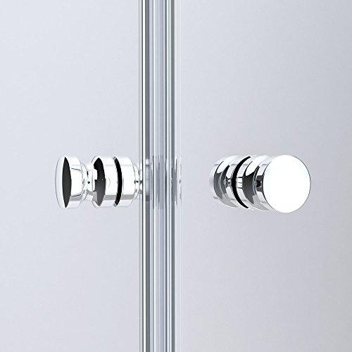 BTH: 70x70x190cm Design Duschabtrennung Ravenna26, ESG-Sicherheitsglas Klarglas, Falttür, inkl. beidseitiger Nano-Beschichtung