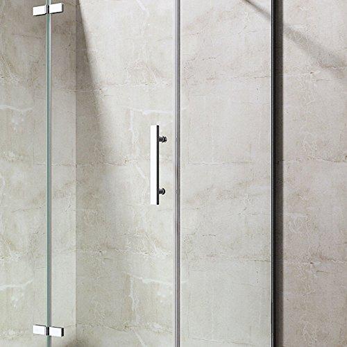 TBH: 100x90x195 cm Design Duschkabine Duschabtrennung Ravenna28K, ESG-Sicherheitsglas klarglas, inkl. beidseitiger NANO-Beschichtung, Eckdusche