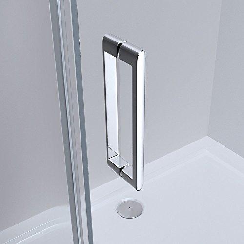 TBH: 90x140x195 cm Design Duschabtrennung mit Schiebetür Ravenna17, 8mm ESG-Sicherheitsglas Klarglas, inkl. beidseitiger Nano-Beschichtung