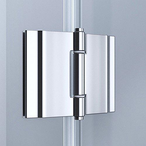 TBH: 75x90x190cm Design Duschabtrennung Ravenna05K, 8mm ESG-Sicherheitsglas Klarglas, Eckdusche, inkl. Nanobeschichtung