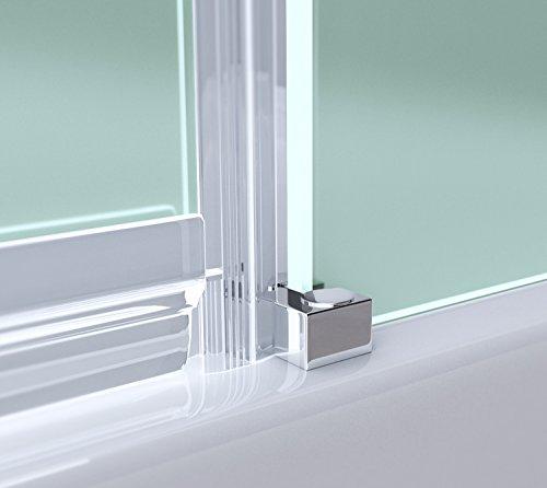 TBH: 100x100x190cm Luxus Duschkabine Duschabtrennung Ravenna01S, 8mm-ESG-Sicherheitsglas satiniert, inkl. Nano-Beschichtung