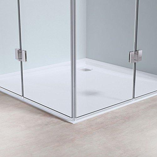 BTH: 90x70x190cm Design Duschabtrennung Ravenna26, ESG-Sicherheitsglas Klarglas, inkl. beidseitiger Nano-Beschichtung, Duschkabine, Duschwand, Glasdusche, Eckdusche