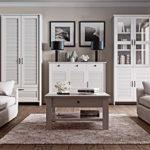 Kleiderschrank Drehtürenschrank Schlafzimmerschrank ORIENT in Weiß matt