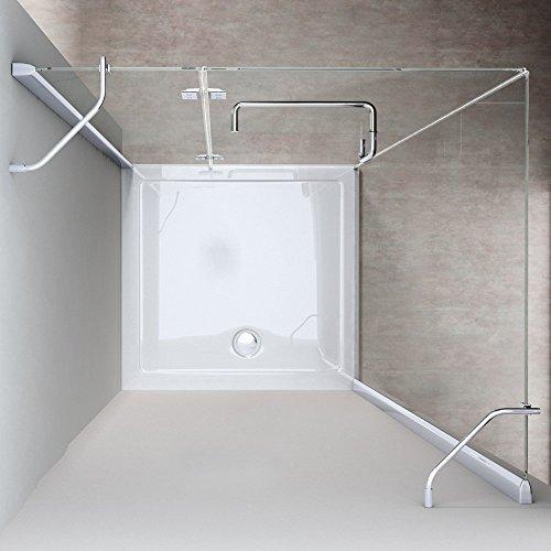 TBH: 90x120x190cm Design Duschkabine Duschabtrennung Ravenna04K, ESG-Sicherheitsglas Klarglas, Eckdusche, inkl. Nanobeschichtung, robust und langlebig
