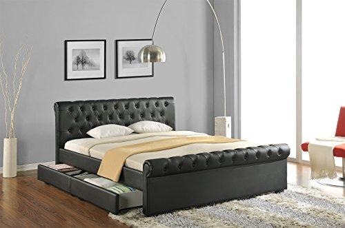 doppelbett polsterbett bettgestell bett lattenrost kunstleder m bel24. Black Bedroom Furniture Sets. Home Design Ideas