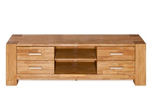 SIT-Möbel 1616-01 Lowboard Zeus, 150 x 44 x 47 cm, massiv wildeiche, wildeichefurnier geölt