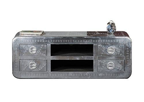 SIT-Möbel 1721-21 Lowboard Airman, 2 offene Fächer, 4 Schubladen, Metallauszug mit Zierschrauben versehen, circa 145 x 45 x 50 cm