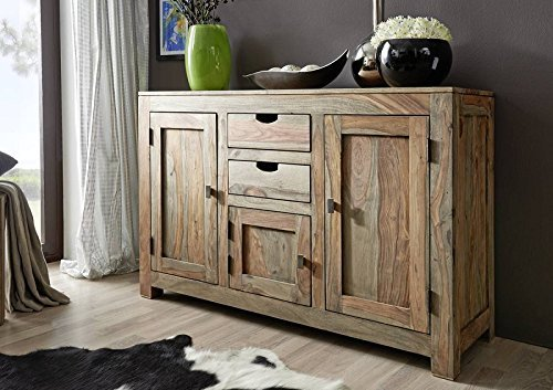 Sheesham Massivmöbel Sideboard Palisander Holz massiv Nature Grey #86