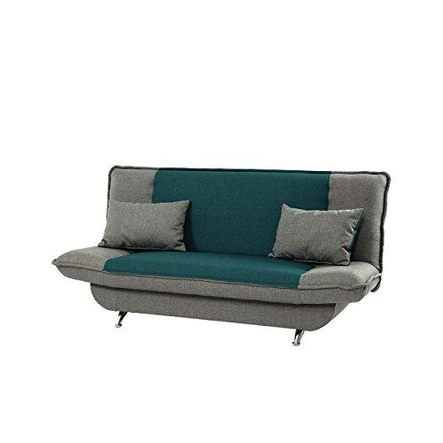 Schlafsofa Bolero mit Bettkasten, 3 Sitzer Sofa, Couch mit Schlaffunktion, Bettsofa Schlafsofa Polstersofa Couchgarnitur