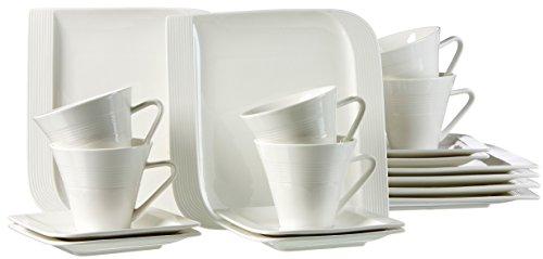 Ritzenhoff & Breker Kaffeeservice Levanto, 18-teilig, Porzellangeschirr