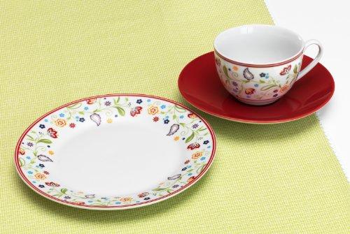 Ritzenhoff & Breker Kaffeeservice Doppio Shanti, 12-teilig, rot, Porzellangeschirr