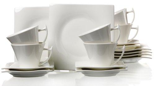 Ritzenhoff & Breker Kaffeeservice Amica, 18-teilig, Porzellangeschirr