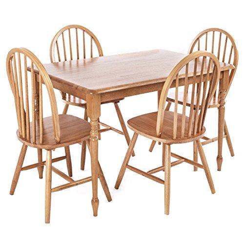Esszimmergruppe 5tlg. mit Holztisch und 4 Stühlen, Essgruppe Esstisch mit Stühlen, Esszimmer, Esszimmergruppe,