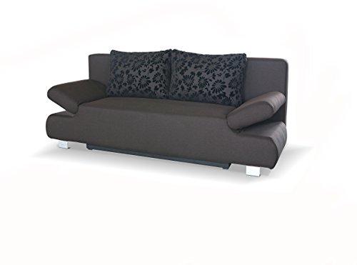 SAM® Schlafsofa Reno in braun, Schlaf-Couch mit Stoff-Bezug in modernem Design, Rücken-Kissen inklusive