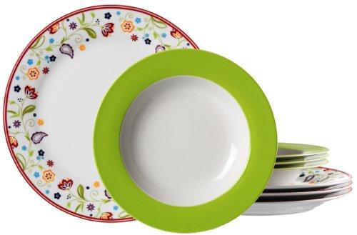 Ritzenhoff & Breker Tafelservice Doppio Shanti, 8-teilig, Porzellangeschirr, Grün