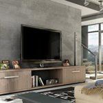 Mirjan24  TV Lowboard Board Horton I, TV Schrank, Tisch, Fernsehtisch B:176 cm, H:28 cm, T:40 cm, Fernsehschrank TV-Bank (Trüffel)