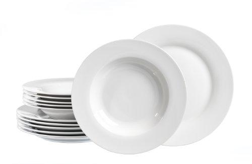 Ritzenhoff & Breker Tafelservice Bianco, 12-teilig, Porzellangeschirr