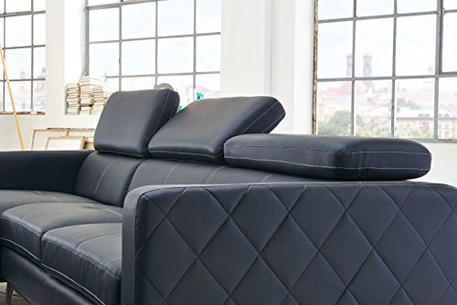 SAM® Design Schlafsofa Dario in anthrazit links