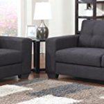 SAM® Sofa Garnitur Aviano 2tlg. Polstergarnitur in grau aus Stoff, abgestepptes Design, pflegeleichte Oberfläche, sehr hoher Sitzkomfort Sofalandschaft bestehend aus 1 x 2-Sitzer + 1 x 3-Sitzer