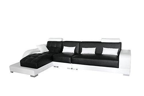 SAM® Ecksofa Xenia schwarz weiß 181 x 346 cm links